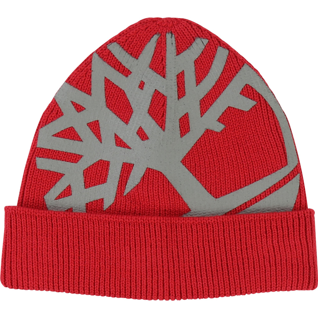 Timberland Red Knitted Hat 1273 (1631720931426)