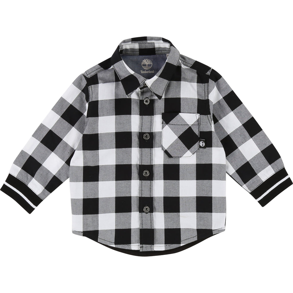 Timberland Black & White Checked Shirt 5H47 (1631504105570)