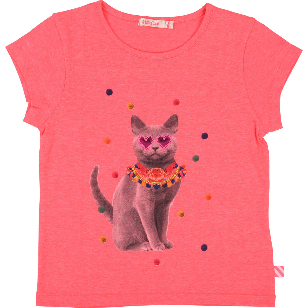 Billieblush Cat T-Shirt Pink 5630 (2172922757218)