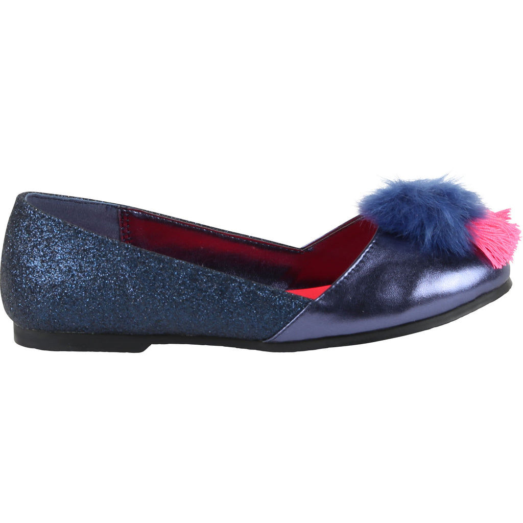 Billieblush Navy Pom Ballett Shoes 9150 - Bumkins Designer Kids (766997921890)
