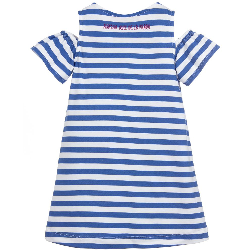 Agatha Ruiz De La Prada Blue Stripe Flower Dress 3167 (2077249175650)