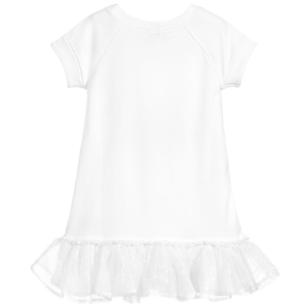 Elsy White Birds Tutu Dress 7124 - Bumkins Designer Kids (631528030235)
