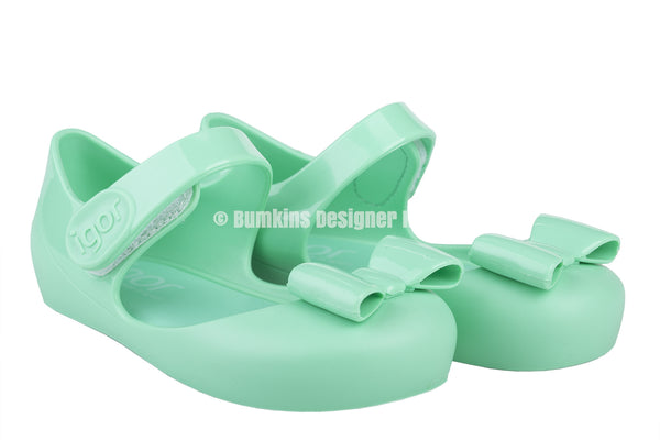 Igor Mia Lazo Jelly Shoes Menta 026 - Bumkins Designer Kids (8439768465)