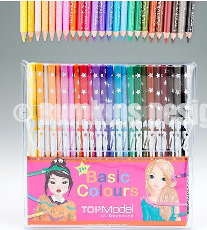 TOPModel Coloured Pencil set of 24 Colours 8073 - Bumkins Designer Kids (8893309201)