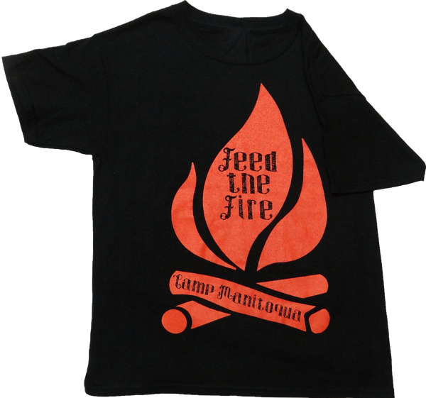 "Camp Manitoqua ""Feed the Fire"" t-shirt in Black"