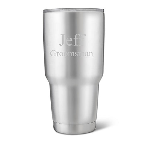 Travel Tumbler White Personalized #GC1582