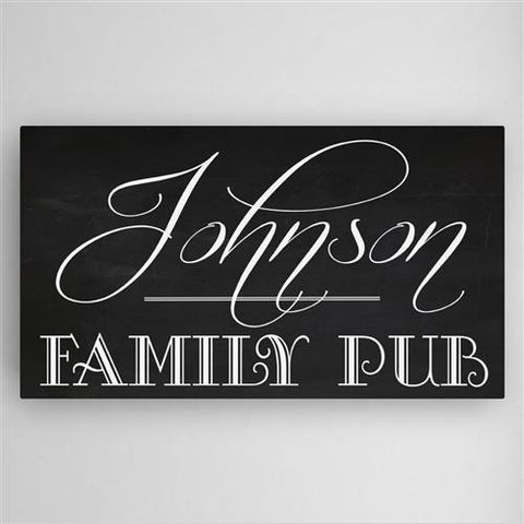 Family Pub Canvas Sign #CA0125