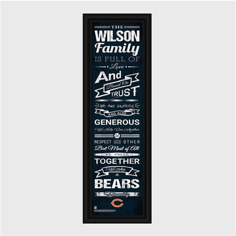 Personalized NFL Family Cheer Print & Frame #GC1335