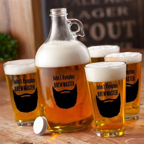 Craft Beer Growler & Pint Glasses Set #GC1278