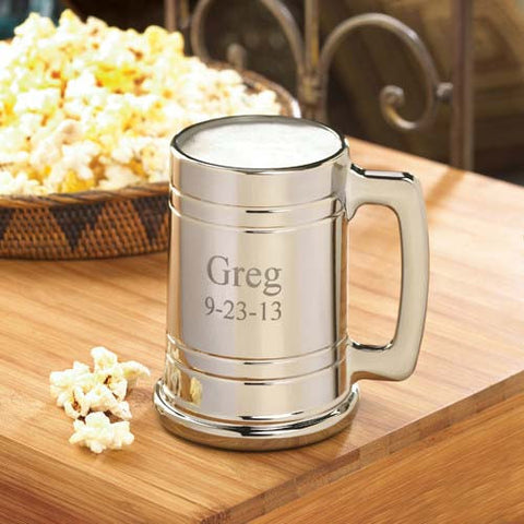 Personalized Gunmetal Beer Mug #GC827