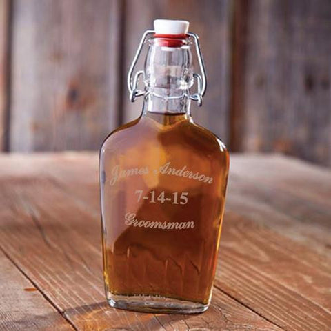 Groomsman Glass Flask #GC1255