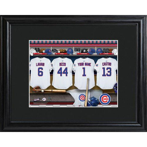 Personalized MLB Clubhouse Print w/Matted Frame #GC727