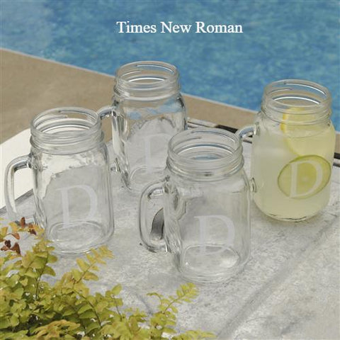 Classic Jar Glass Set of 4 #GC942