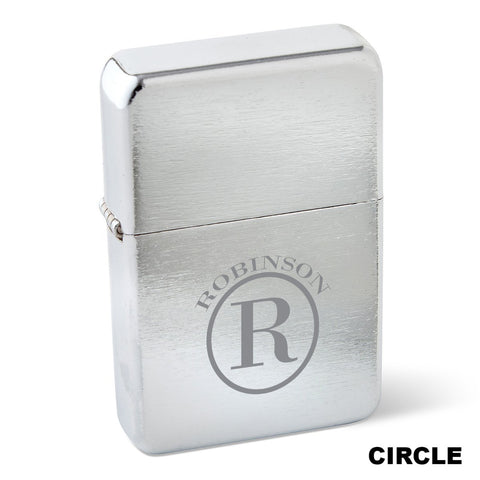 Zippo Chrome Lighter Monogrammed #GC1578