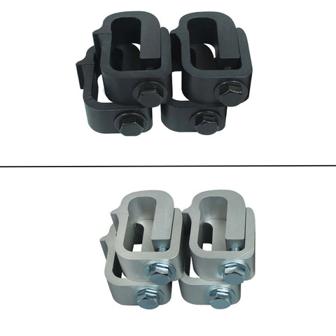 AA-Racks Aluminum Mounting Clamps for Pickup Truck Cap Camper Shell Truck Topper (P-AC(4)-03)
