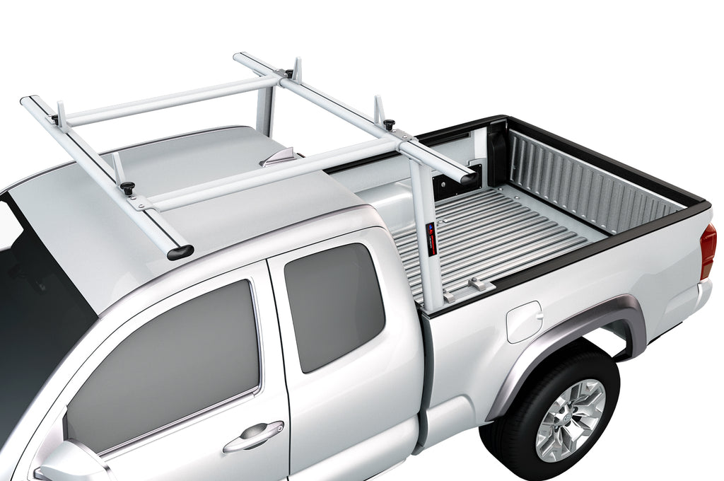AA-Racks Toyota Tacoma  2005-On Aluminum Semi Pickup Truck Ladder Rack w/ Cantilever Extension (APX25-A-E-TA)