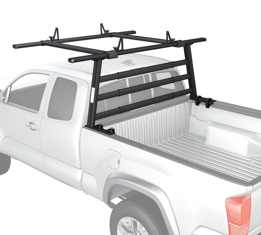 AA-Racks Aluminum Headache Rack for Toyota Tacoma 2005-On Semi Pickup Truck Rack w/ Cantilever Extension Back Rack (APX25-A-WG-E-TA)
