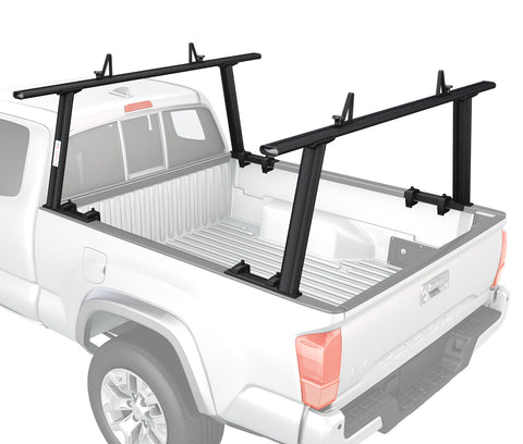 AA-Racks Aluminum Pickup Truck Racks w/Mounting Clamps 1000Lbs Utility Ladder Racks (Fits: Toyota Tacoma 2005-On) (APX25-TA)