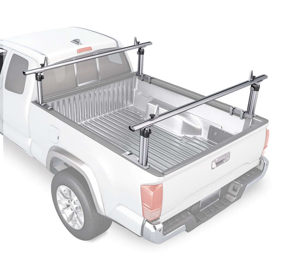 AA-Racks Pickup Truck Ladder Racks Adjustable Utility Aluminum Truck Bed Rack for Toyota Tacoma 2005-On (APX2501-TA)