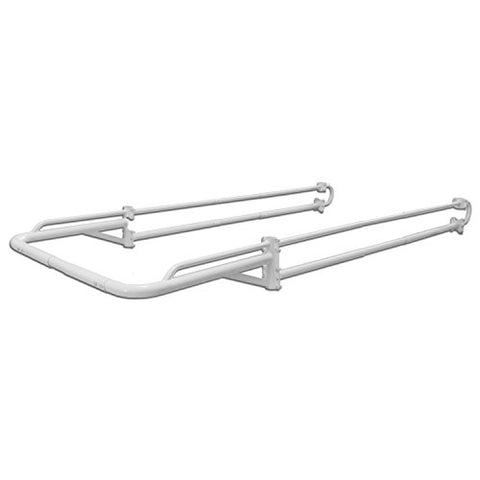 AA-Racks Truck Accessories Adjustable Side Bar with 55'' Over Cab.Extension for Basic Two Bar Truck Ladder Rack (P39-LC-BX2)