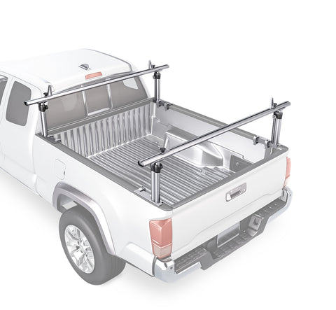 AA-Racks Universal Pickup Truck Ladder Racks Height-Adjustable Utility Aluminum Truck Bed Rack (APX2501)