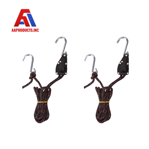 AA Products Adjustable Kayak Canoe Bow Stern Ratchet Tie Down Straps Rope Hanger 300Lb/ Pair (RR-314)