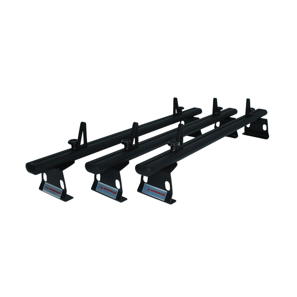 AA-Racks Universal 72'' Cross Bar Aluminum Cargo Van Roof Ladder Rack with Load Stops (ADX32-72)