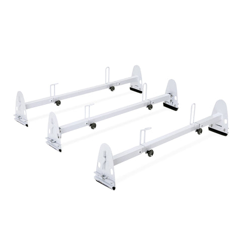 AA-Racks Model X27 Universal Rain Gutter Mount Van Roof Ladder Racks with Adjustable Load Stops (X27)