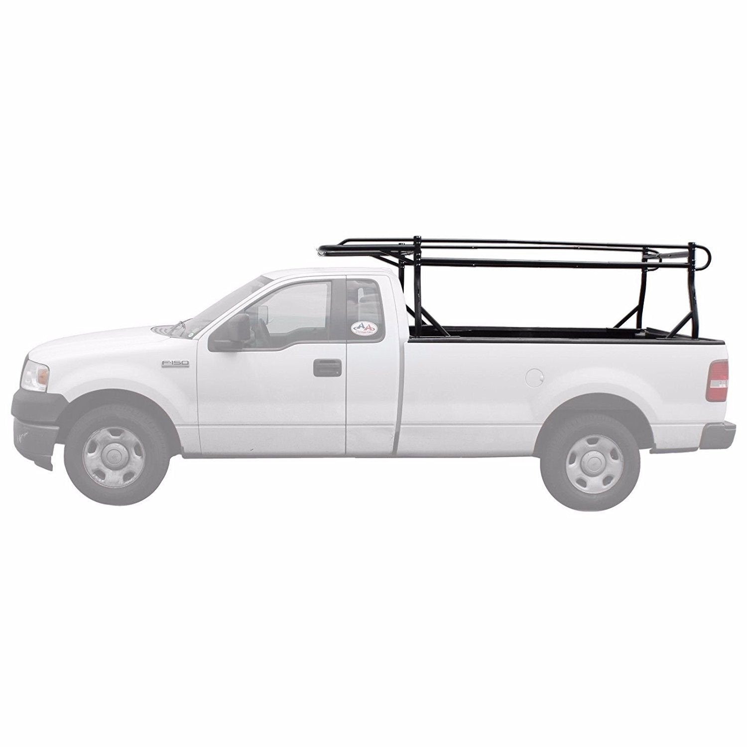Non-Drilling C-Clamps Pick-up Truck Utility Ladder Rack Matte White AA-Racks X35 Truck Rack with 8 AA Products Inc