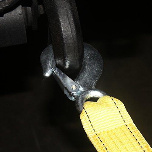 AA Products Heavy Duty Nylon Recovery Tow Straps with 2 Safety J Hooks - (TS)