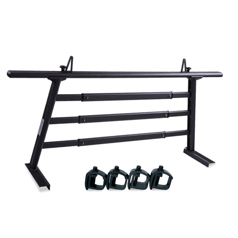 AA-Racks Universal Headache Rack for Semi Pickup Trucks Back Rack with Window Guard Cross Bar Protective Rear Rack - (APX25-A-WG)