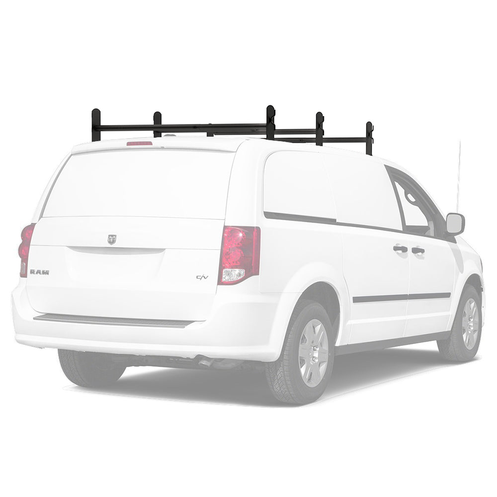 AA-Racks Heavy Duty Universal Cargo Van Roof Utility Ladder Rack Adjustable Cross Bar Steel Drilling Required (DX36)