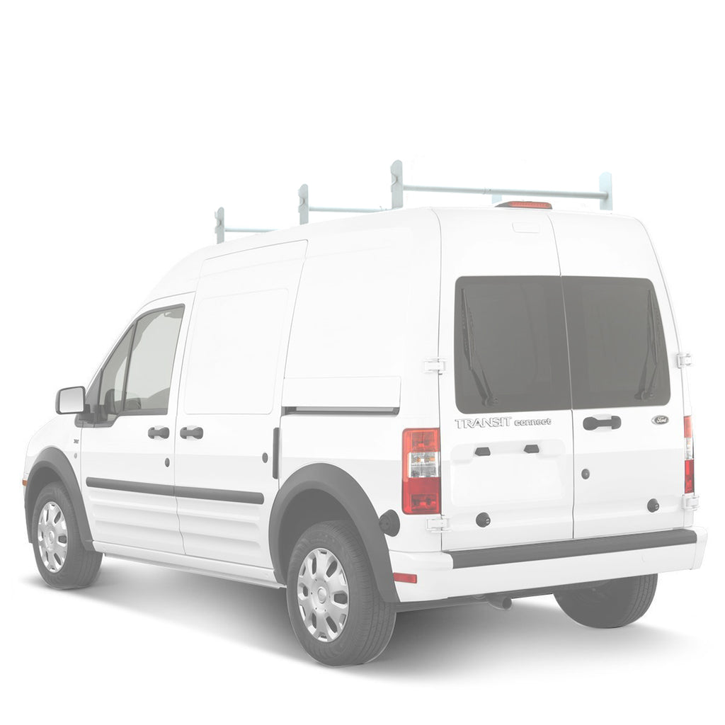 AA-Racks Adjustable Van Roof Ladder Racks Steel Black/ White - (Fits: Ford Transit Connect 2008-13) (DX36-TR)