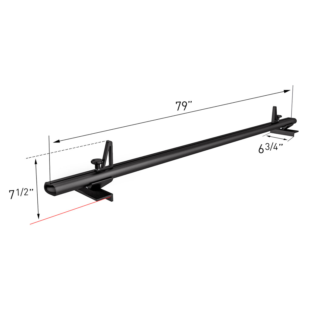 AA-Racks Low Profile Aluminum Truck Bed Rack for Trucks and Trailers with Open Rails (300lb On Road Capacity) (APX2503)