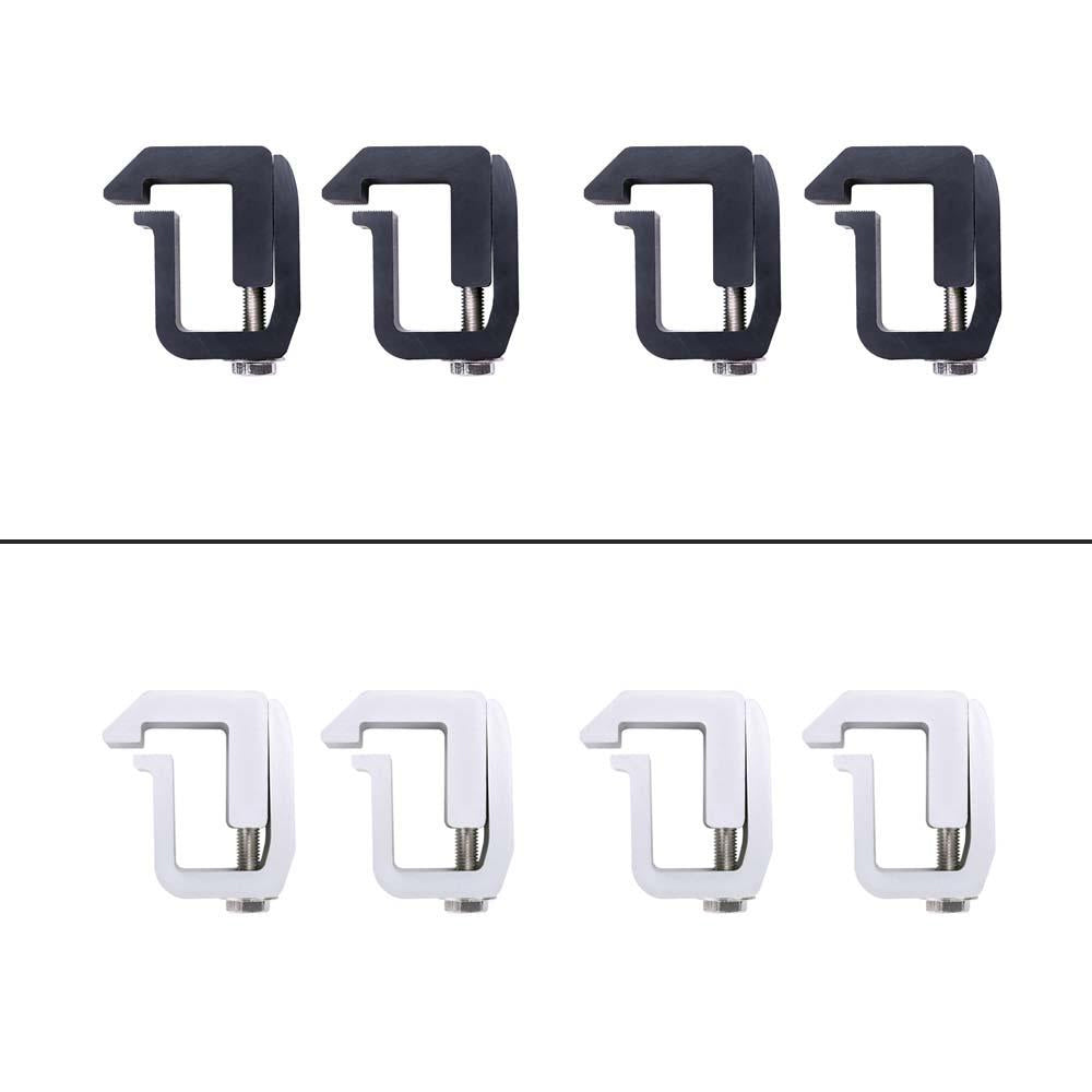 AA-Racks 4 Pcs Aluminum Mounting Clamps for Truck Cap Topper Camper Shell Chevy GMC Dodge Ford (P-AC-08)