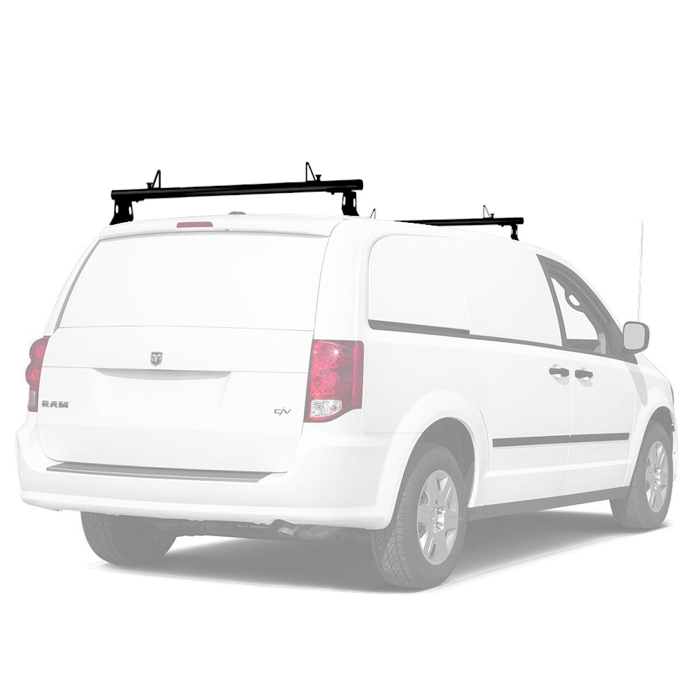 AA-Racks Universal 50'' and 60'' Cross Bar Aluminum Cargo Van Roof Ladder Racks with Load Stops (ADX32-50/60)