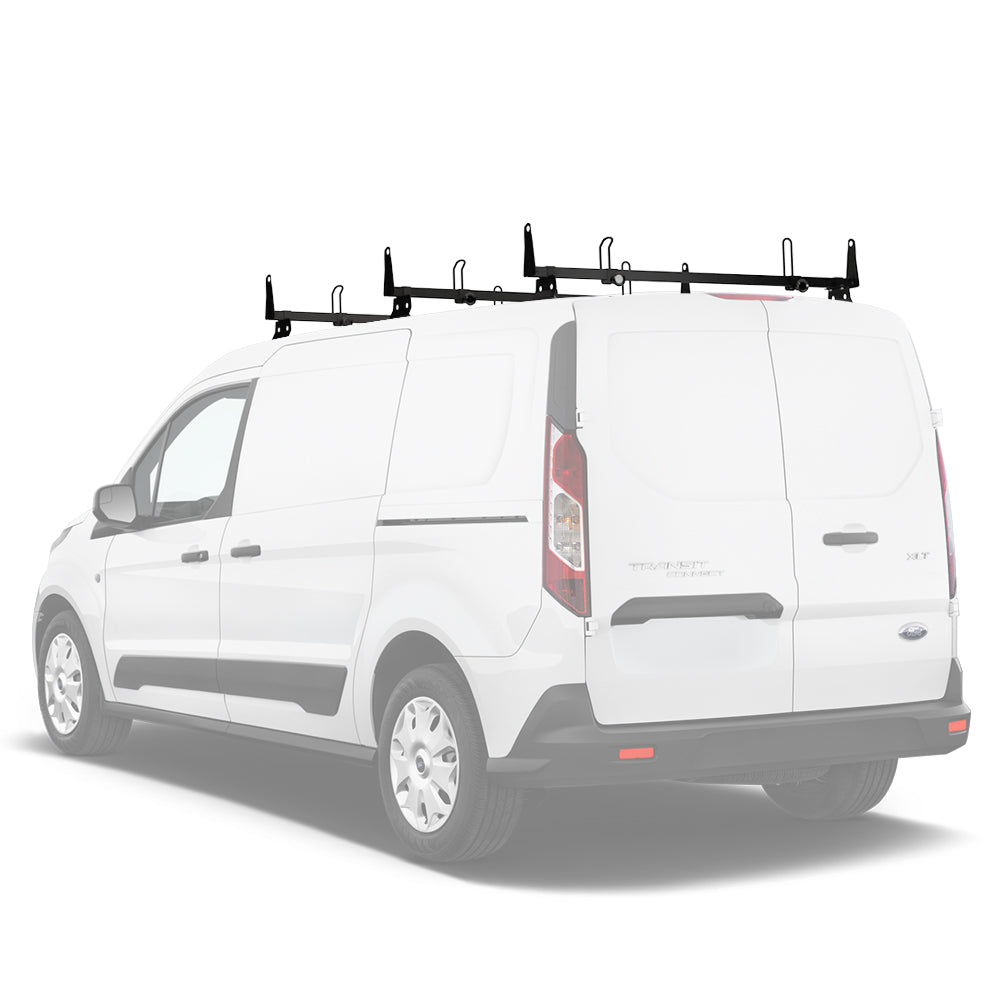 AA-Racks Heavy Duty Steel Car Top Van Roof Bars for Ford Transit Connect 2014-Newer (X202-TR(CN))