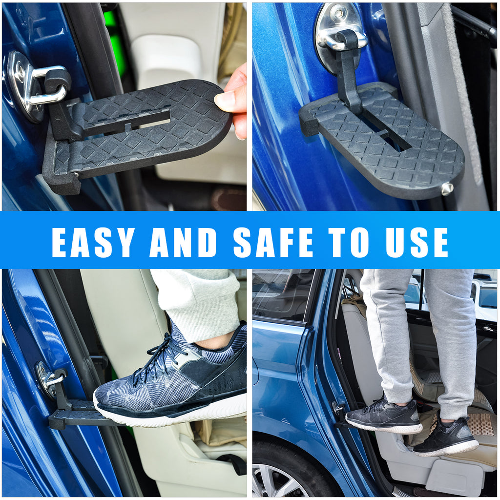 AA Products Vehicle Doorstep with Safety Hammer Function for Easy Access to Rooftop for Jeep Car SUV (ADS-01)