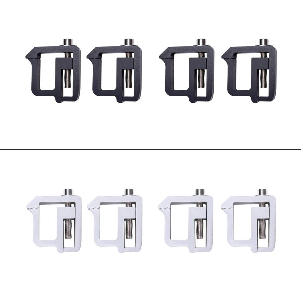 AA-Racks Universal Aluminum Mounting Clamps for Truck Cap Topper Camper Shell - Set of 4 (P-AC-09)