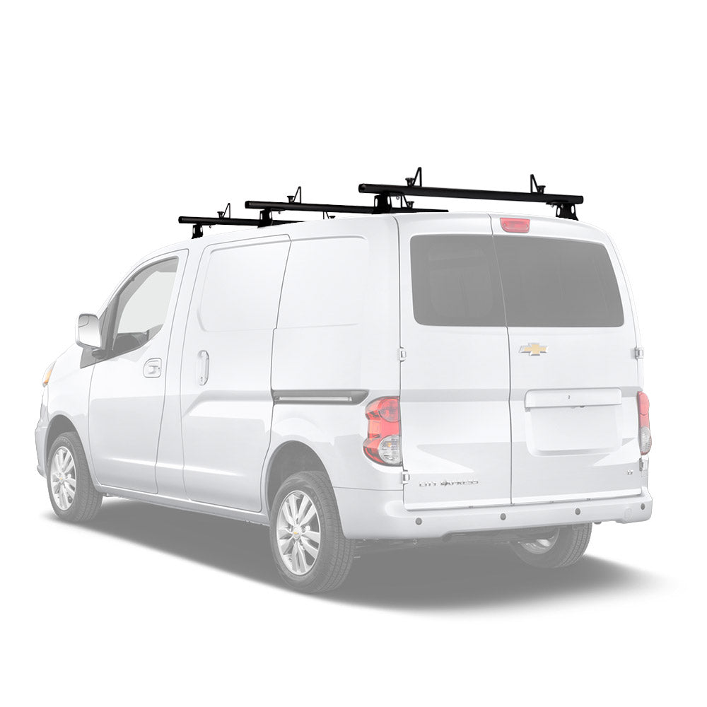 AA-Racks Aluminum Chevy Cargo Van Roof Ladder Rack with Carrier Load Stop Fits 2013-2017 Chevy City Express (AX302-CH)