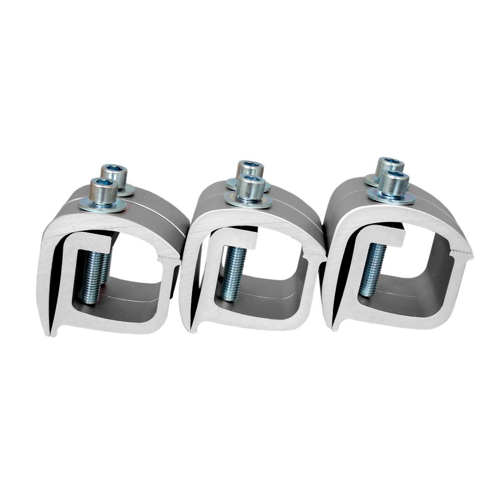 AA-Rack Set of 6 Aluminum C-clamps For No Drilling Truck Rack & Camper Shell Installation (P-AC(6)-01)
