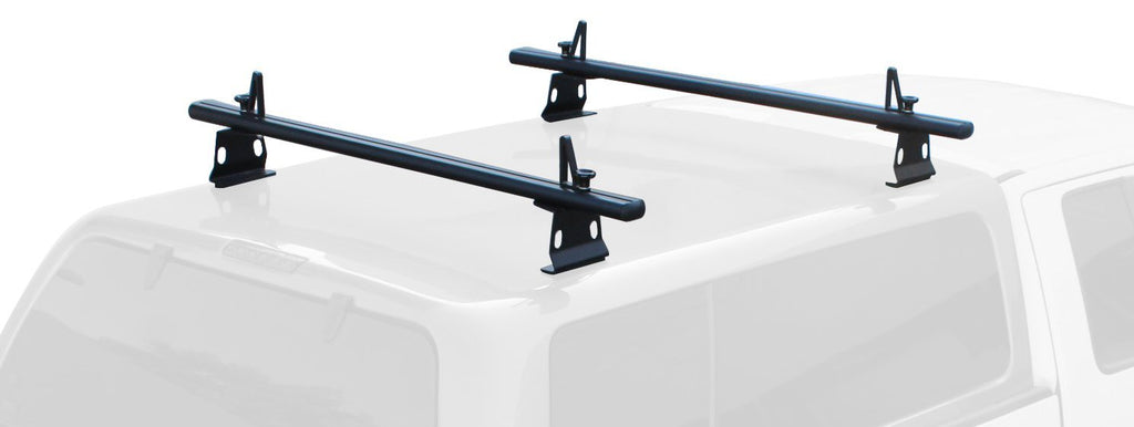 AA-Racks Universal Truck Camper Shell Rack Van Roof Rack Aluminum 60'' with Load Stops - Black/ White (ADX32-C)