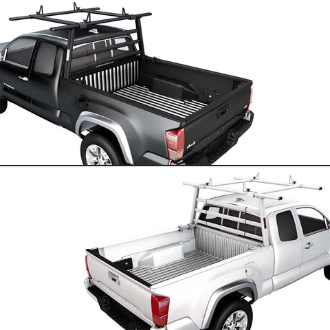 AA-Racks Aluminum Headache Rack Semi Pickup Truck Rack w/ Cantilever Extension Back Rack (APX25-A-WG-E)