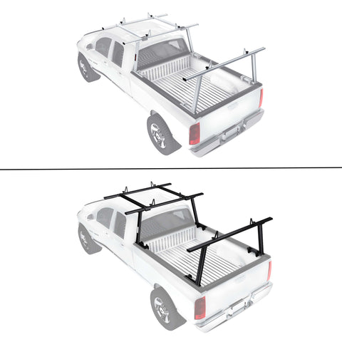 AA-Racks Universal Aluminum Pickup Truck Utility Ladder Racks with Over Cab Extension (APX25-E)