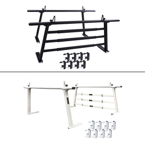 AA-Racks Aluminum Headache Rack for Toyota Tacoma 2005-On Universal Pickup Truck Rack with 3 Bar Protector Rear Window Guard Back Rack (APX25-WG-TA)