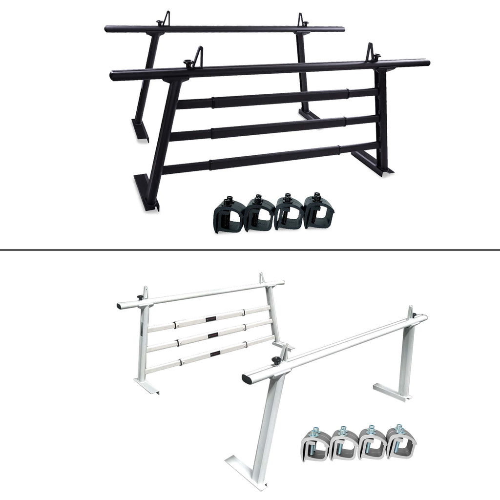 AA-Racks Aluminum Headache Rack Universal Pickup Truck Rack with 3 Bar Protector Rear Window Guard Back Rack - (APX25-WG)