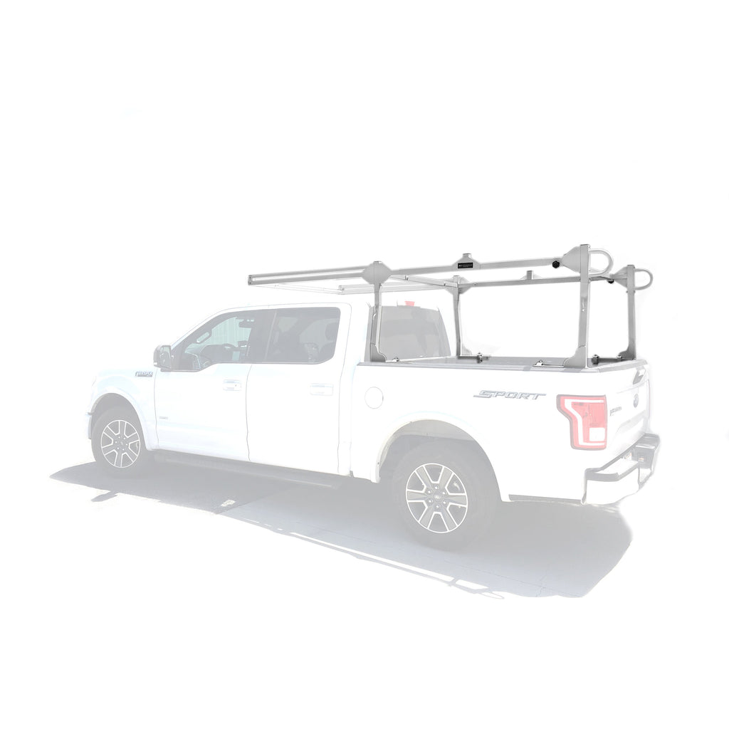 AA-Racks Heavy Duty Pickup Truck Ladder Racks with Square Side Bar 31''/ 55'' Over-Cab Extension (X219)