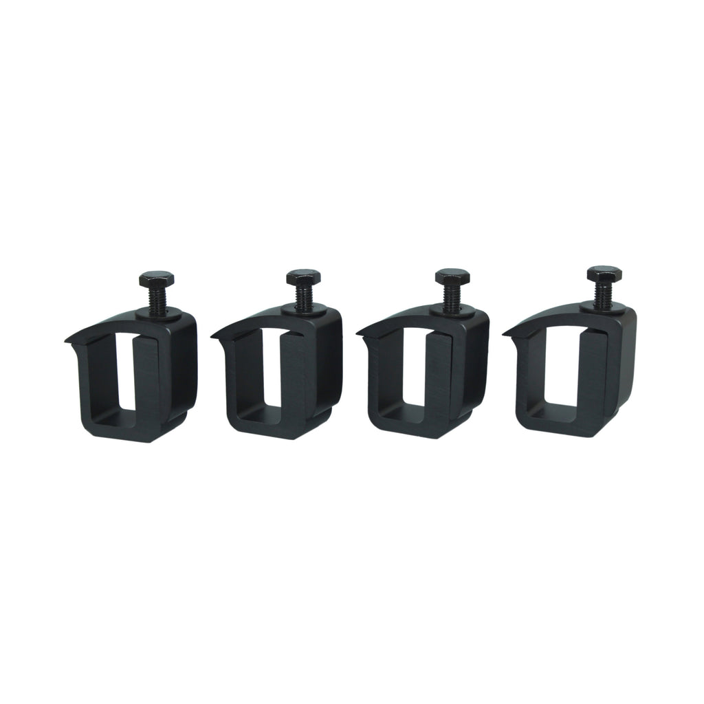 AA-Racks Set of 4 Mounting C-Clamp for Truck Cap, Camper Shell, Topper for a Short Bed Pickup Truck - (P-AC(4)-02)