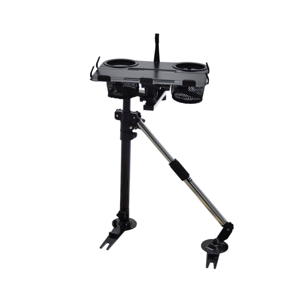 AA Products Car Laptop Mount Stand Holder Vehicle Computer Table with Aluminum Supporting Arm Kit (K002-BS)