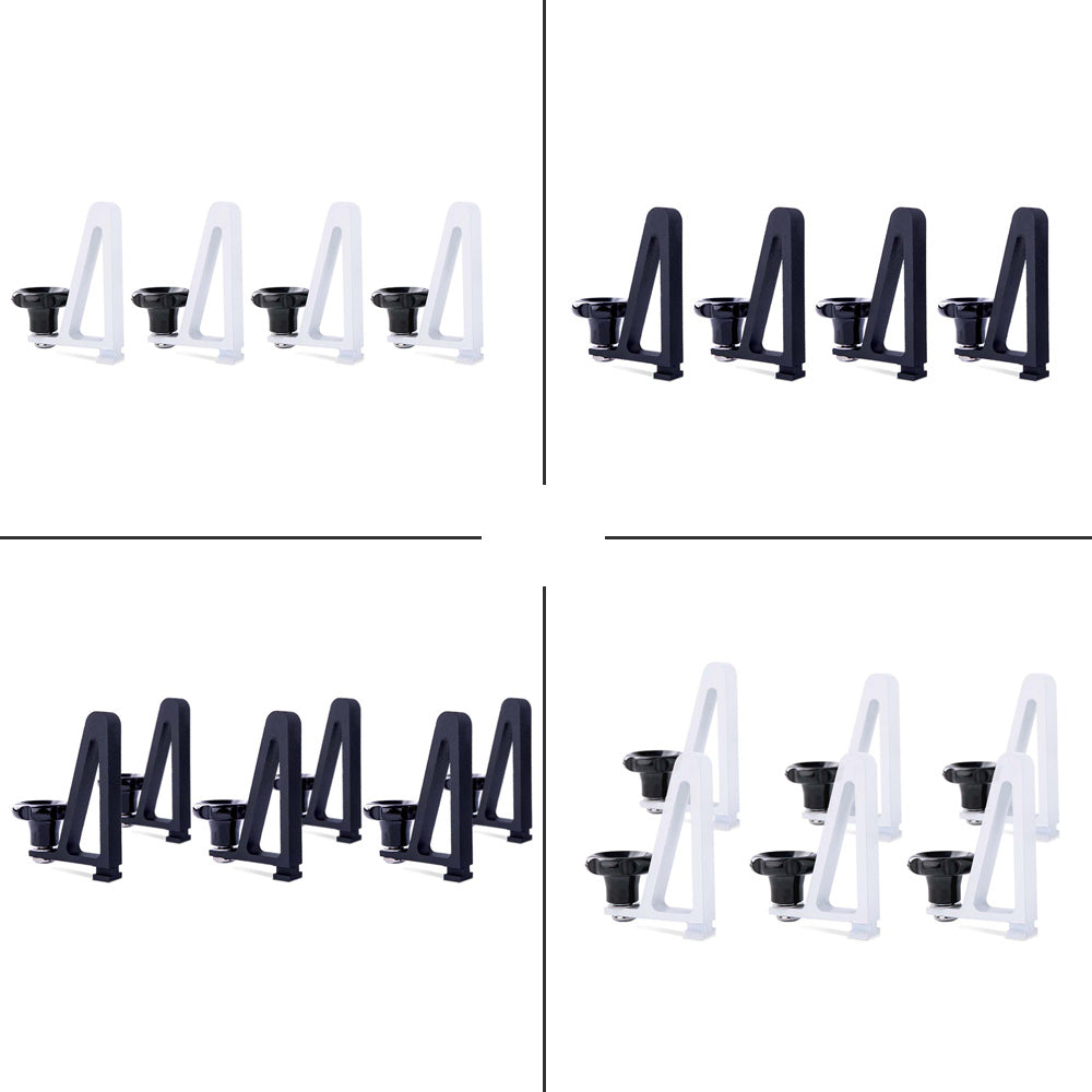 AA-Racks Universal Roof Ladder Rack Load Stops Cargo Carrier Aluminum Set of 4, Set of 6 - (P-LH-01)
